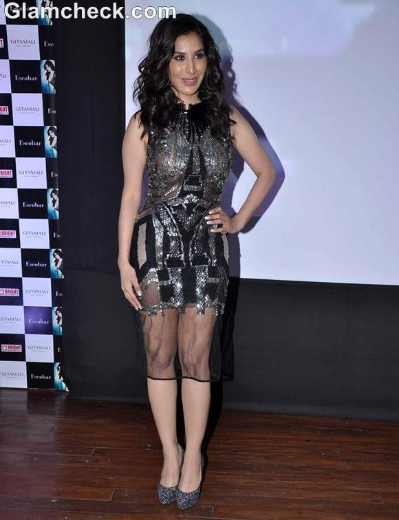 Sophie Choudhary dress at Music album Hungama Ho Gaya launch