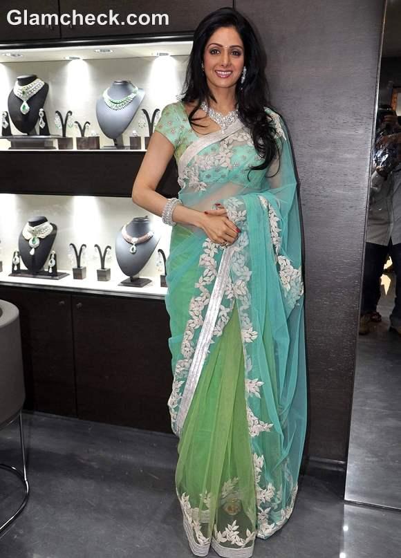 Sridevi in sari Launches Begani Jewels Mumbai