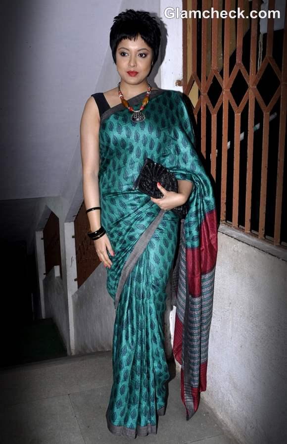 Tanushree Dutta short hair