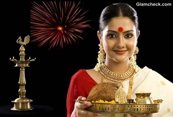 Traditional ethnic saree for Diwali