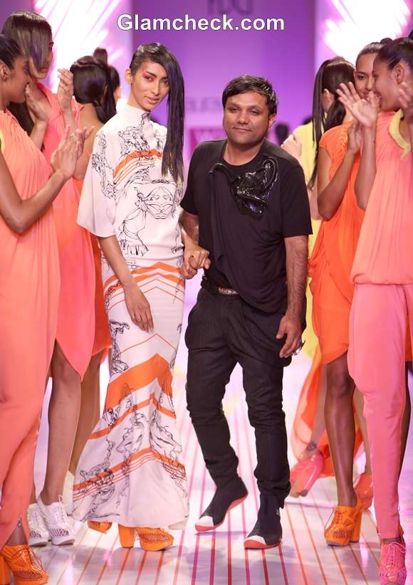 WIFW S-S 2013 Gaurav Gupta neon Collection day 3