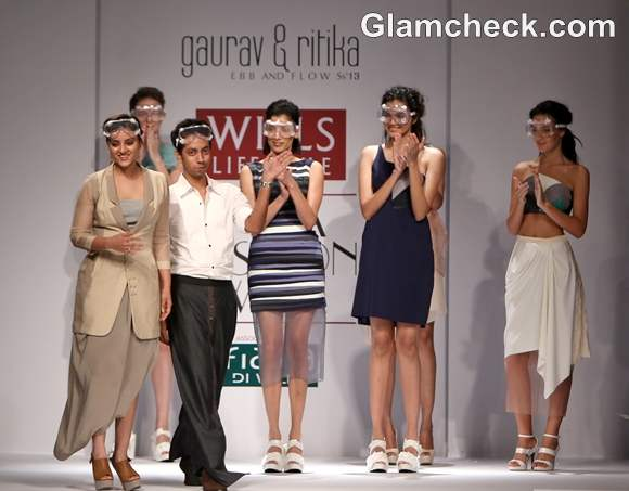 WIFW S-S 2013 Gaurav Ritika collection Ebb and Flow