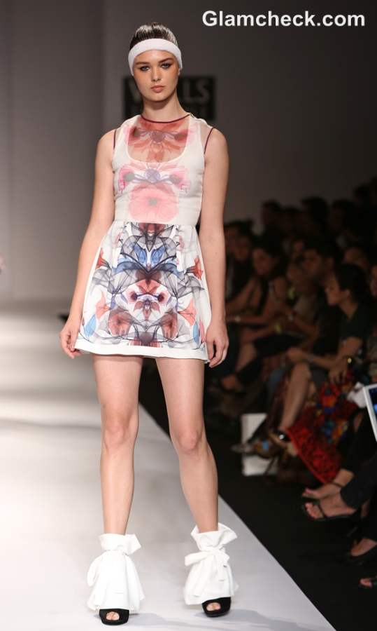 WIFW S-S 2013 Hemant Nandita Digital Floral collection