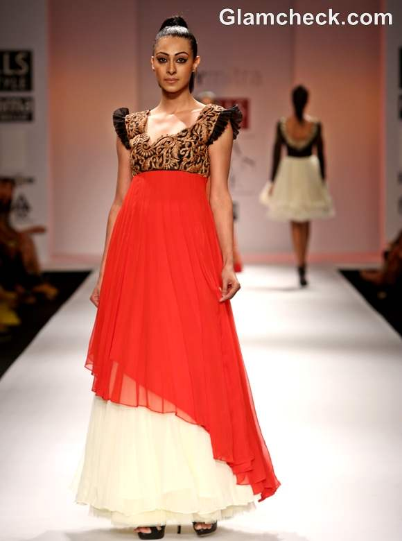 WIFW S-S 2013 Joy Mitra Collection gowns