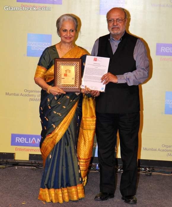 Waheeda Rehman Honored Lifetime Achievement Award Mumbai Film Festival