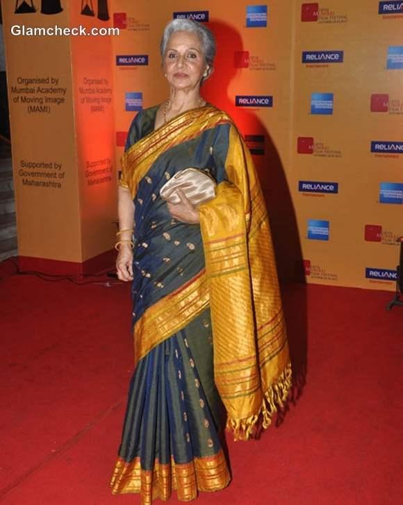 Waheeda Rehman Lifetime Achievement Award  Mumbai Film Festival