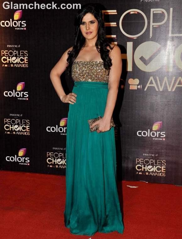 Zarine Khan Peoples Choice Awards 2012