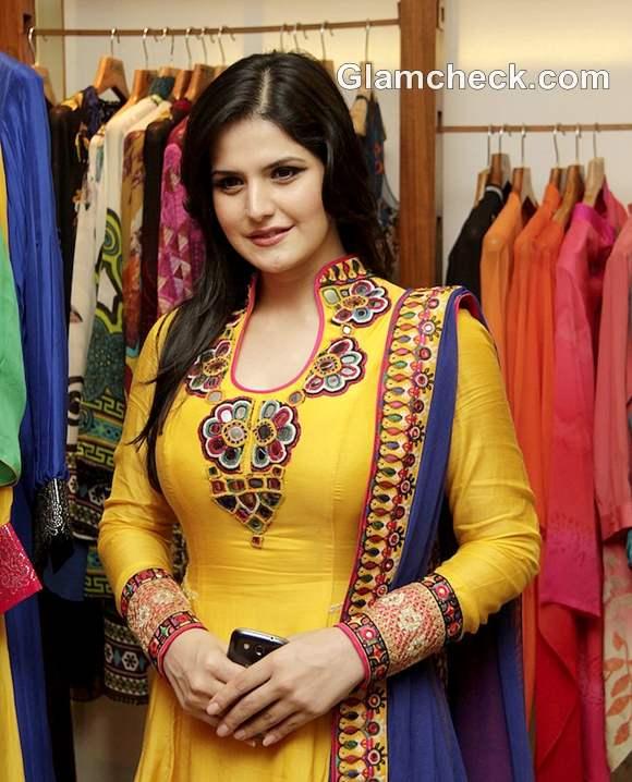 Zarine Khan in anarkali suit Fuel the Fashion Store Nishka Lulla