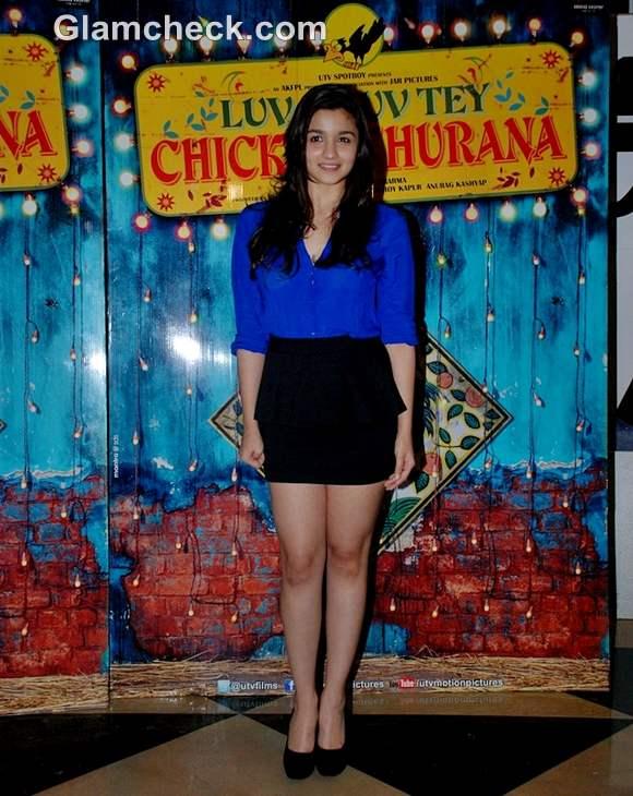 alia bhatt Luv Shuv Tey Chicken Khurana special screening