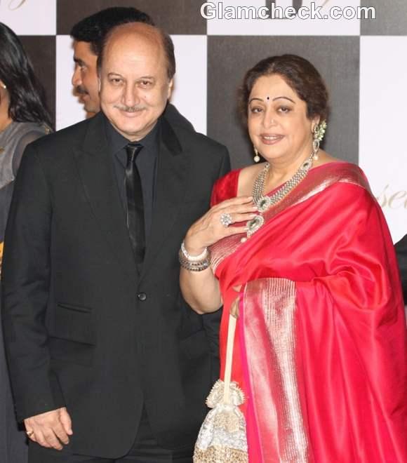 anupam kiron kher bollywood couple amitabh 70 birthday bash
