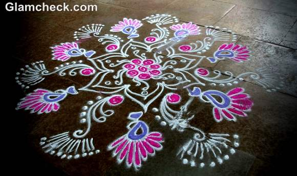 diwali rangoli designs colors