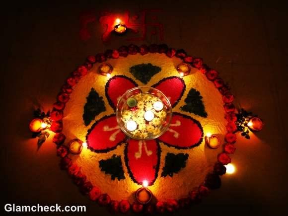 diwali rangoli designs flowers colors diyas