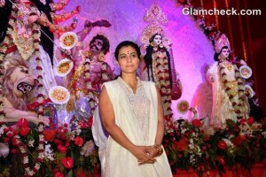 Kajol during the Durga Puja Celebration in Mumbai
