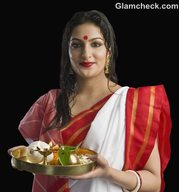 durga puja bengali woman