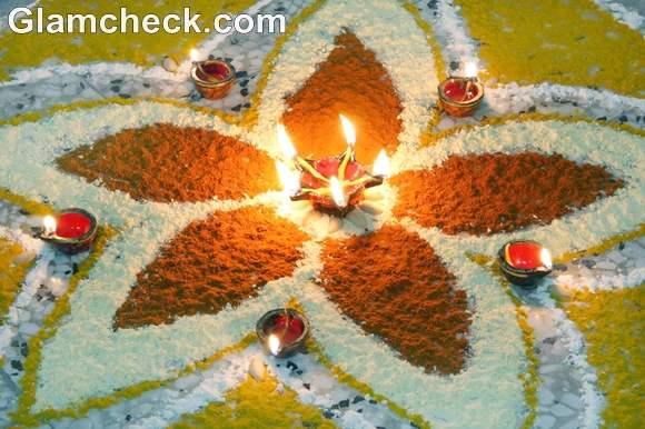 flower rangoli designs floral patterns