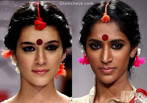 hairstyle makeup Durga Puja indian festival look