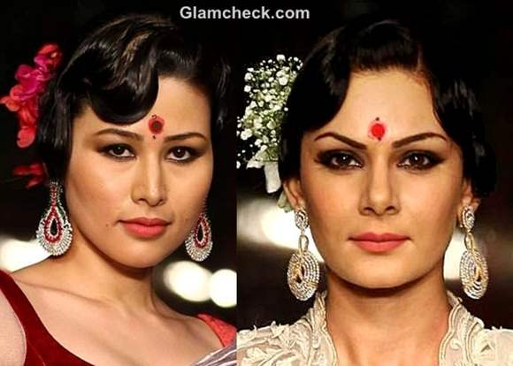 hairstyle makeup Durga Puja