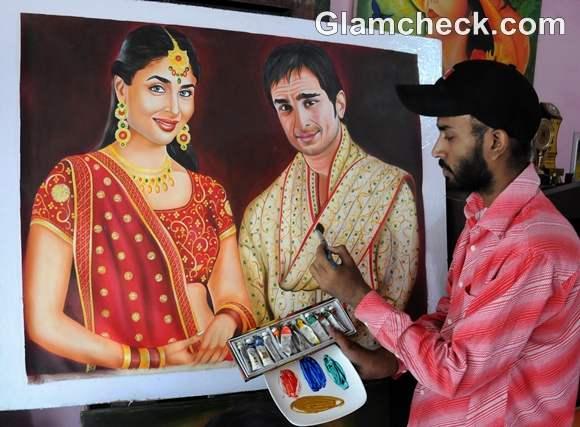 kareena saif court marriage 16 october Artist Rubel Painting