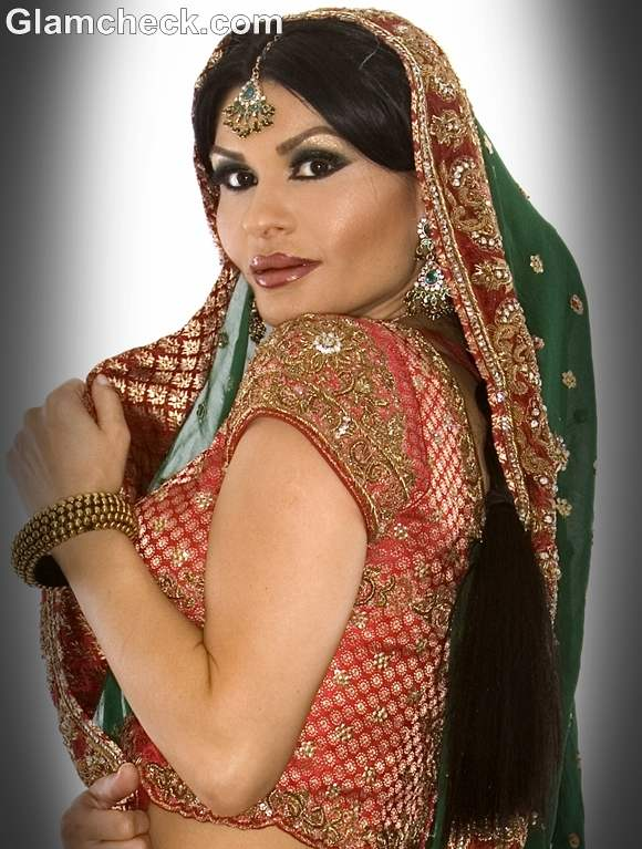 karva chauth braid hairstyle 2012