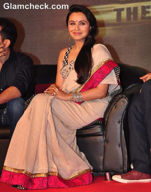 rani Mukherjee saree at Launch Music talaash