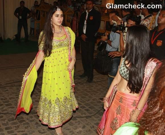 Saif Kareena Wedding Reception Party Sara Ali Khan