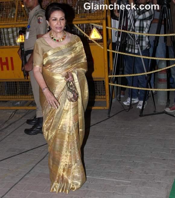 saif-kareena wedding reception party sharmila tagore