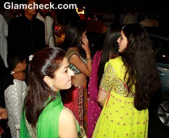 sara ali khan at  saif-kareena wedding reception party