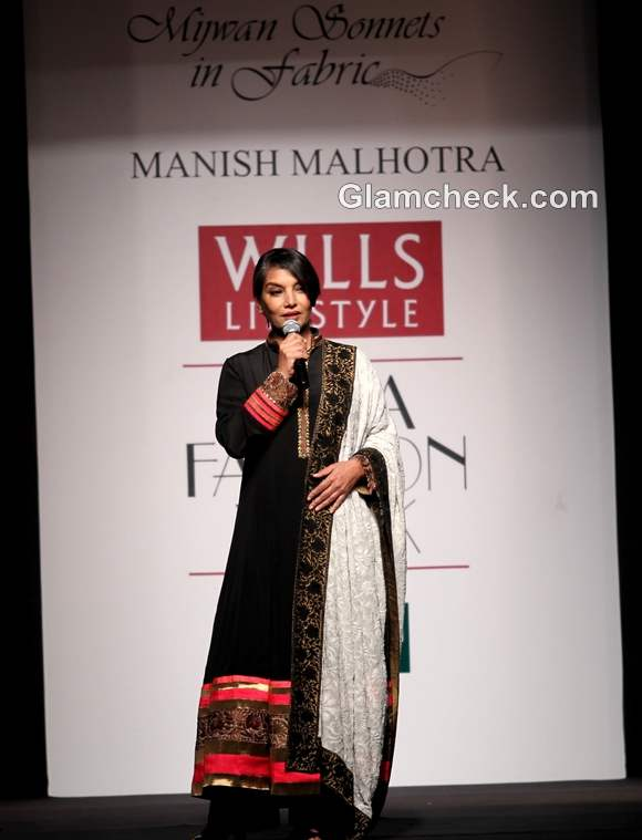 shabana azmi Manish Malhotra WIFW S-S 2013 Mijwan collection