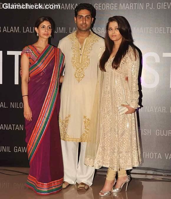 shweta nanda Abhishek Bachchan aishwarya B70 art show