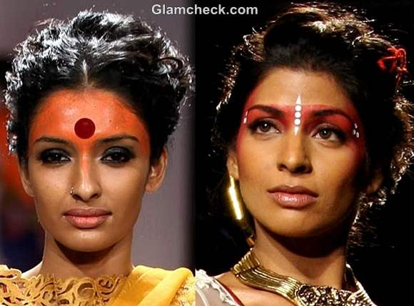 traditional hairstyle makeup for durga puja bengali