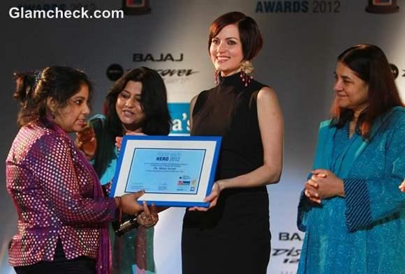 yana gupta at Dr Batras Positive Health Awards 2012