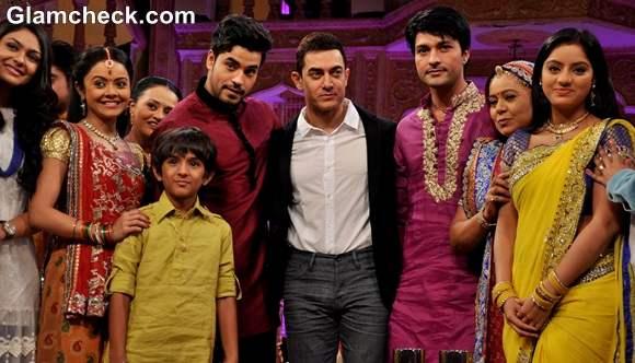 Aamir Khan on the sets Yeh Rishta Kya Kehlata Hai Promote Talaash
