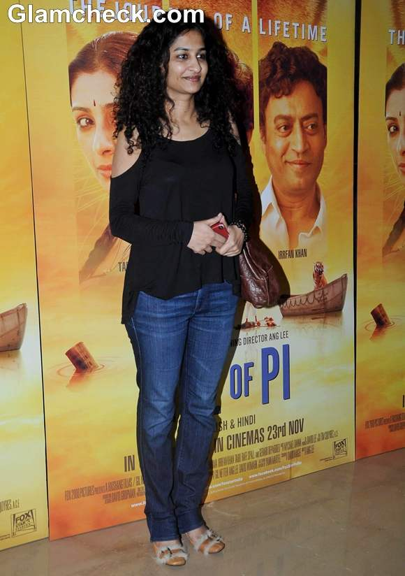 Ad-film director Gauri Shinde at the Premiere of Life of Pi in