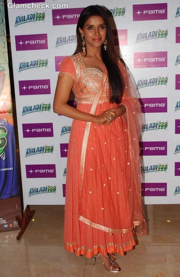 Asin in anarkali dress Promotes Khiladi 786 at Fame