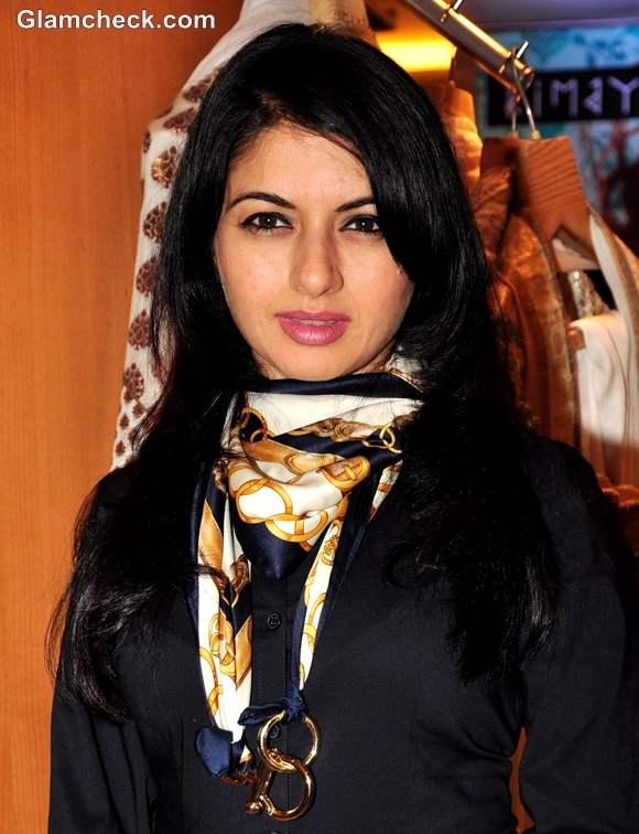 Bhagyashree at Ritu Beri New Festive Collection Kimaya Store Mumbai launch