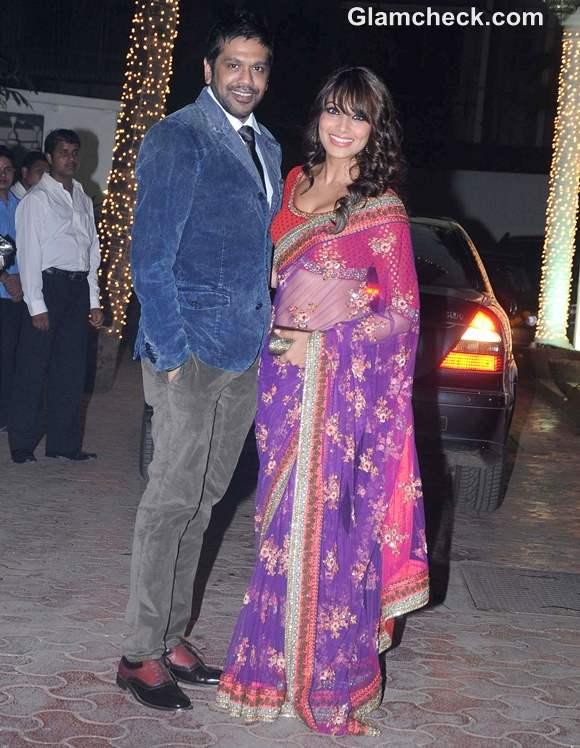 Bipasha Basu Rocky S at Shilpa Shetty Diwali Bash