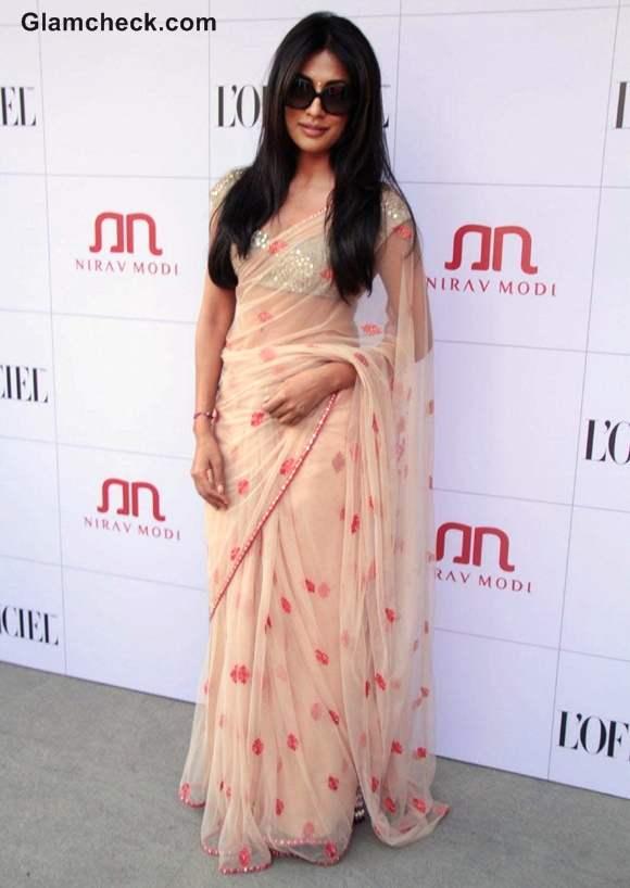 Chitrangada Singh in Sari at Nirav Modi Jewels Event