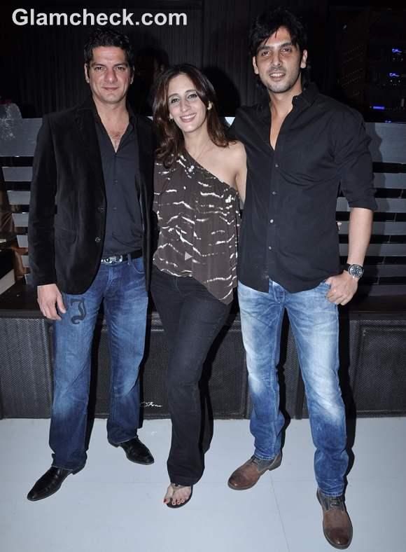 DJ Aqeel with wife Farah Khan Ali and Zayed Khan