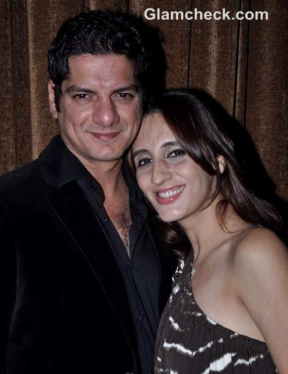 DJ Aqeel with wife Farah Khan Ali