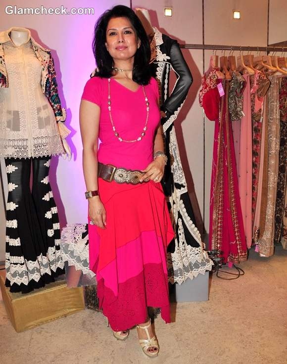 Designer Ritu Beri At The Launch Of Her New Festive Collection At Kimaya