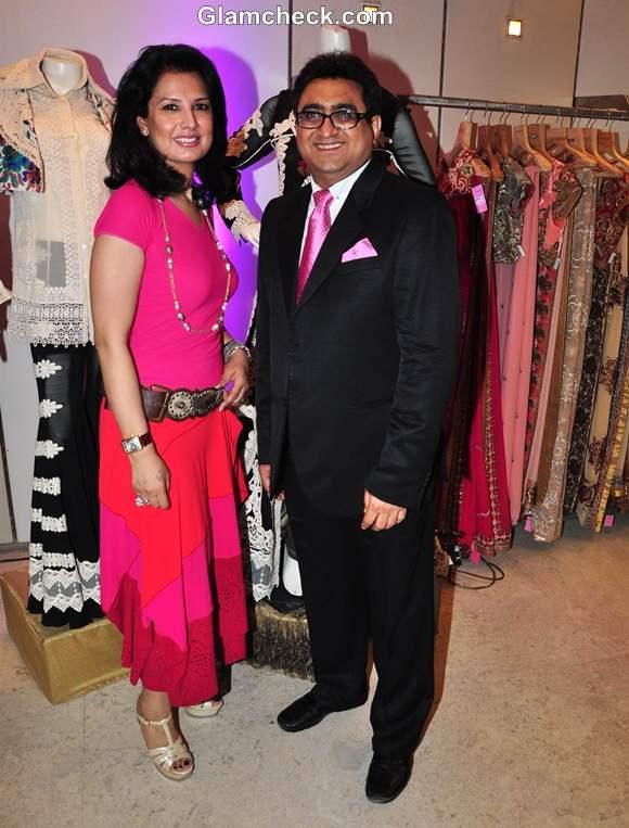Designer Ritu Beri at the launch of her new Festive Collection at Kimaya