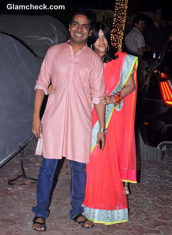 Ekta Kapoor Shilpa Shetty Diwali Bash