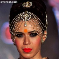 Indian bridal makeup trend 2012 orange tangerine
