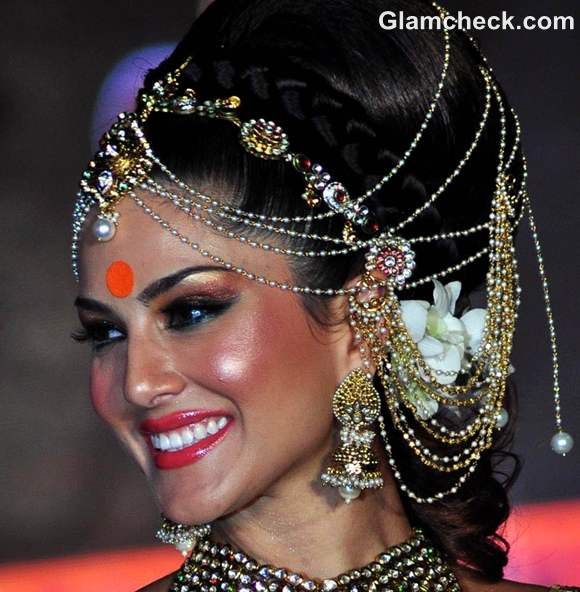 Indian bridal makeup trend 2012 orange tangerine makeup