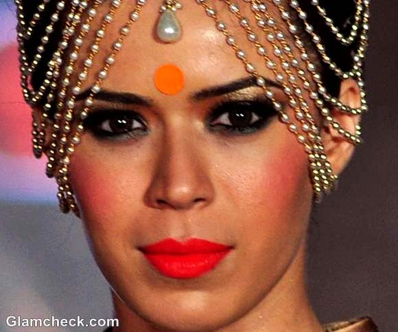 Indian bridal makeup trend orange tangerine 2012