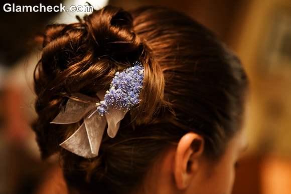 Indian bun hairstyles fowers