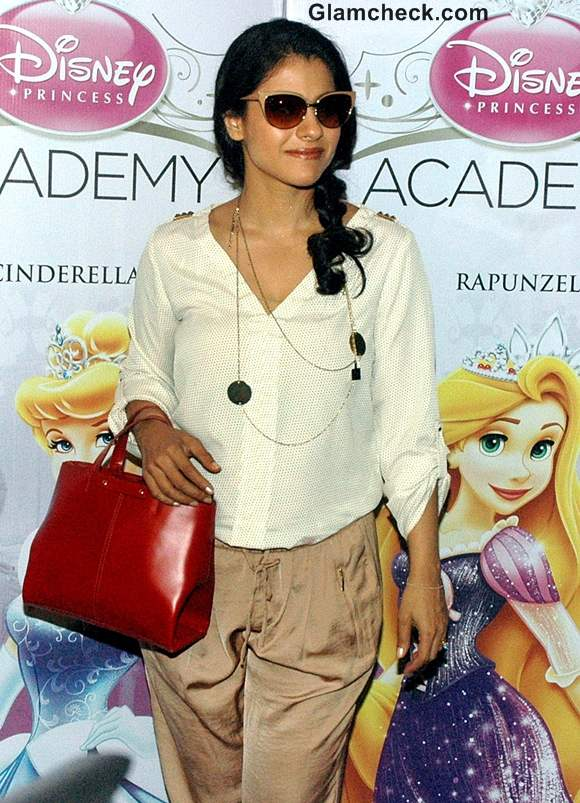 Kajol Classy in Beige Pants at Disney Princesses Event
