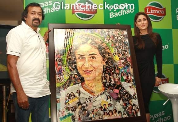 Kareena Kapoor Black Dress at Limca Meet and Greet with Kareena