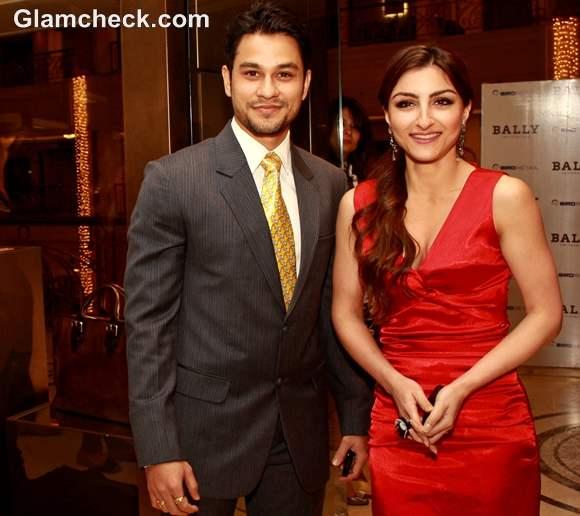 Kunal Keemu with Soha Ali Khan bally boutique