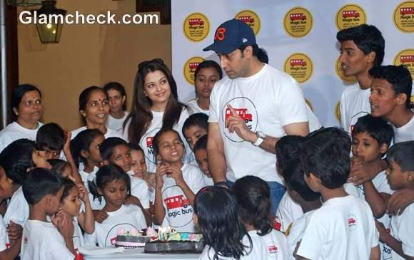 Magic Bus Childrens Day celebrations Abhishek Aishwarya Bachchan